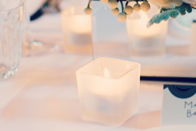 Square frosted votive EventHaus
